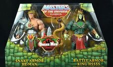 Masters of Universe Classics Snake Armor He-man & Battle Armor King Hssss Hsss**