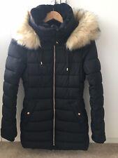 Zara Black Puffa Quilted Jacket / Coat Xs