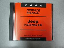 2000 JEEP WRANGLER Service INFORMATION Shop Repair Manual CD DVD OEM BRAND NEW