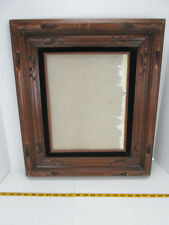 """Vintage Picture Wood Frame Black Velvet Hecho On Mexico 19 1/4"""" x 22"""" Overall A"""