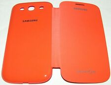 Samsung Brand Galaxy S III Protective Flip Cover, High Gloss Orange/Matte Flip