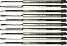 10 - Ballpoint Pen Refills for WATERMAN Pens, Black Medium, Smooth Flow Ink