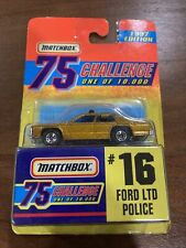 1997 Matchbox 75 Challenge #16 Ford LTD Police (Gold) ~ New