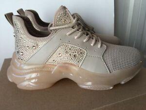 NEW Steve Madden MAXIMA Blush Multi Rhinestone Sneakers Size 8.5