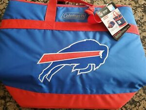 New Coleman NFL Buffalo Bills Grocery Getter Insulated Tote 40 Can Blue Red