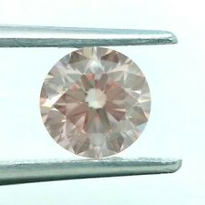Natural Loose Diamond 1.46Ct Fancy Brownish Orangy Pink VS1 Round GIA Certificat