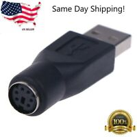 New PS/2 Female to USB Male Converter Connector Adapter for PC Mouses US Seller