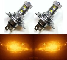LED 50W 9003 HB2 H4 Orange Amber Two Bulbs Head Light Replacement Show Off Road