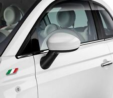 Fiat 500 Grande Punto White Mirror Caps Covers New and Genuine 71807487