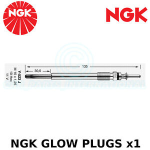 NGK Glow Plug - For Vauxhall Vectra MK II Hatchback 2.0 DTI 16V (2002-08)
