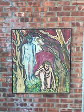 Brooklyn Artist Louise Odes Neaderland Figural Expressive Painting. Signed. 1965
