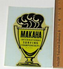 Vintage Mint 1960's Makaha International Surf Championships HI Water Slide Decal