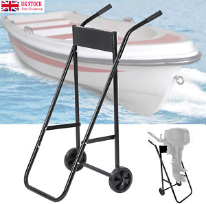 Heavy Duty Outboard Trolley Boat Motor Carrier Cart Fodable Engine Storage Stand