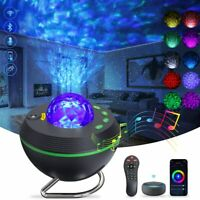 Star Projector Galaxy Ocean Wave Night Light Bluetooth Speaker Remote Alexa Goog