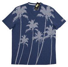 A x Armani Exchange Men's Multi Striped Palm Tree Tee 3zztbm Zjh4z Size L