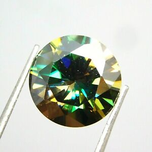 Synthetic Round 6.60 Ct Certified Moissanite Diamond Loose Gemstone