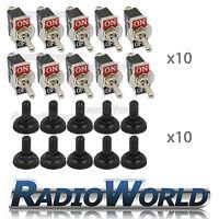 10x Waterproof Toggle Flick Switch 12V ON/OFF Car Dash Light Metal 12 Volt SPST