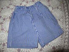 nwot Anavini blue stripe elastic waist shorts boys 2T free ship Usa
