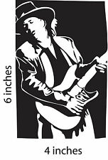 2 STEVIE RAY VAUGHN Stickers Cut Vinyl Decal Double Trouble Soul to Soul In Step