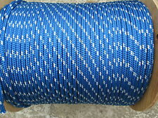 """3/8"""" X 100 Halyard sail line,anchor rope polyester double braid 4800 USA ,Blue"""