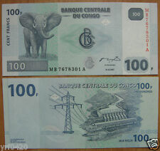 Congo Banknote 100 Francs 2007 UNC