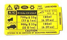 *NIB OEM Land Rover Discovery Label BAC000560