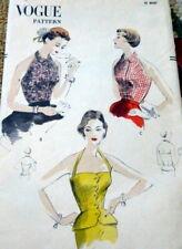 LOVELY VTG 1950s HALTER TOPS VOGUE Sewing Pattern 14/32