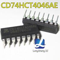 5PCS CD74HCT4046AE IC PLL W/VCO 16-DIP HCT4046 74HCT4046 NEW