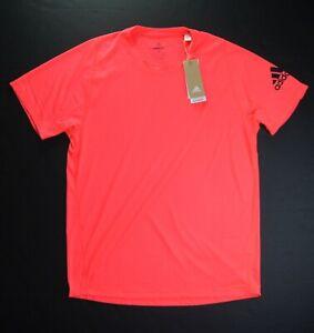 adidas Men's Signal Pink Freelift AeroReady Training T-Shirt GN6669 NEW NWT