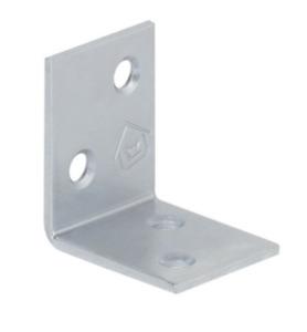 Galvanised Corner Brace 30x30x25x2mm Angle Bracket Timber Joints Support KS1