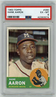 1963 BRAVES Hank Aaron card Topps #390 PSA 6 EX-MT Milwaukee vintage High End