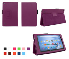 PURPLE -Slim Foldable  Flip Case Cover Stand For New Amazon Fire 7 (2017)