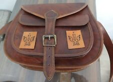 Women's Vintage Brown Leather Messenger Bag Shoulder Hippie Handmade Bag Purse