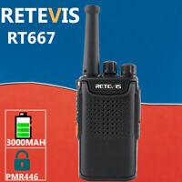 Retevis PMR446 Walkie Talkie 3000mAh two Way Radio RT667 long range hands-free