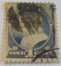 US SCOTT 212 ONE CENT FRANKLIN USED FREE SHIPPING
