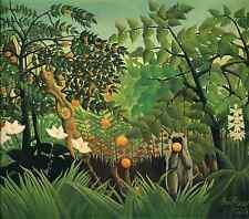 Henri Rousseau Exotic Landscape Giclee Canvas Print