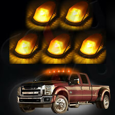 5x Cab Roof 15442 Marker Amber Lenes+Base+Free Bulb For 80-97 Ford F-150/250/350
