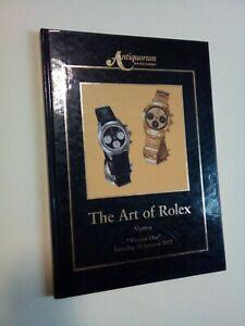 Antiquorum Auctioneers THE ART OF ROLEX, Ginevra ICHA 1992, orologi