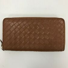 Bottega Veneta Purse Tan Brown Women Basket Weave Bank Cards Coins Money 291560