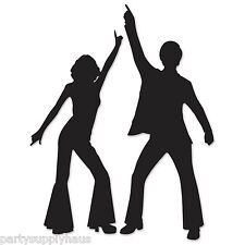 Funky 70's DISCO Dancing Couple SILHOUETTES Party Wall Decorations STUDIO 54