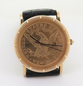 .Vintage Corum 1903 Ten Dollar Liberty Gold Coin 32mm Watch Ref 9949756