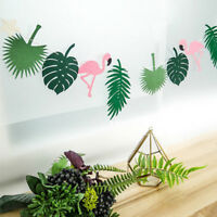 Palm Leaves Garland Flamingo Banner Decor Birthday Party Wedding Supplies 1Set/