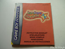 NINTENDO GBA / Notice Instruction / KuruKuru Kururin [ AGB-AKRP-NEU5 ]