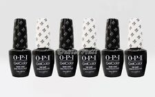 LOT 6 OPI GelColor Soak-Off Gel Color UV LED: 3 BASE + 3 TOP COAT 15ml 0.5oz Set