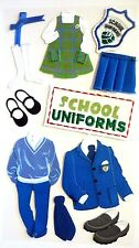 School Uniforms Boys Girls Catholic School Plaid RARE Jolee's 3D Sticker