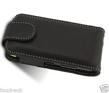 BLACK LEATHER FLIP CASE FOR NOKIA E5 MOBILE PHONE