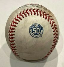 New ListingLuis Robert Game Used Baseball White Sox Woodruff Milwaukee Brewers 50th Logo