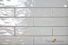 Mano Ash Gloss Handmade-Look 75x300 Subway Wall Tile