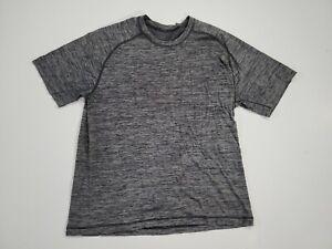 Lululemon Men's Medium Athletic Workout Gym Yoga Short Sleeve Grey T-shirt