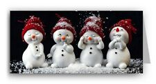 Cute Snowmen Christmas Card